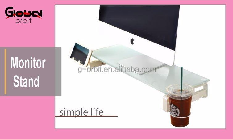Monitor PC Ständer mit USBhubs & stecker, glas rechen