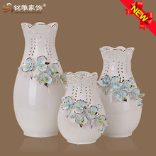 hot sale customized porcelain flower vase for wedding decoration