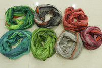 2014 new designed 190x92 cm fashion warm colorful striped knitted snood scarf