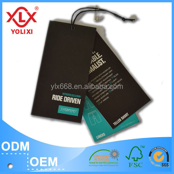 Printing paper hangtag for cloth