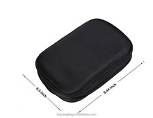 Jewelry Makeup Travel Case organizer Black Carry-on Zipper bag