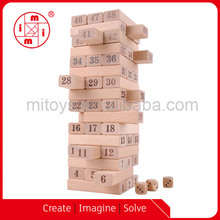Giant jenga/tumbling tower/beech wood maple blocks