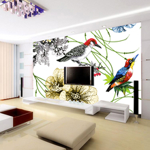 Natural removable wall art wallpaper fabric 3d murals for living room decoration