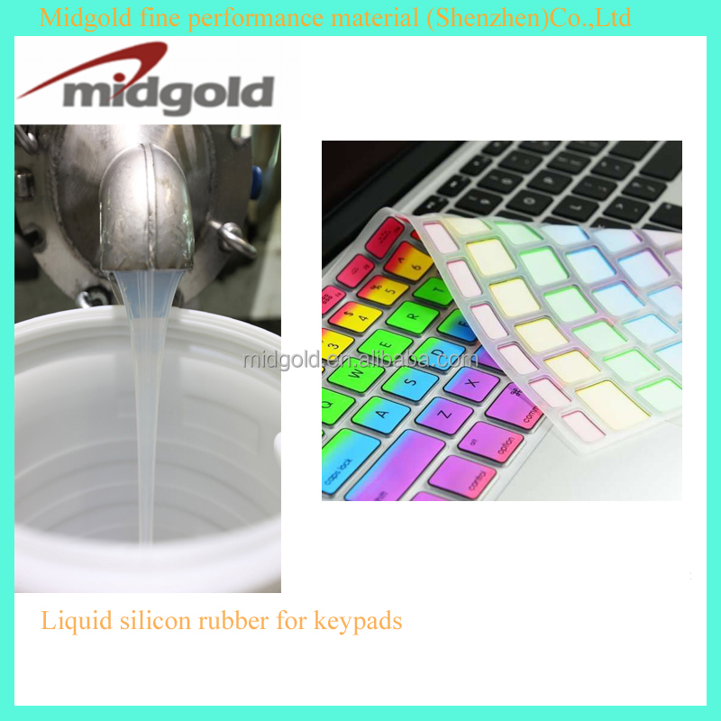 Two component liquid silicon rubber for high grade keypads