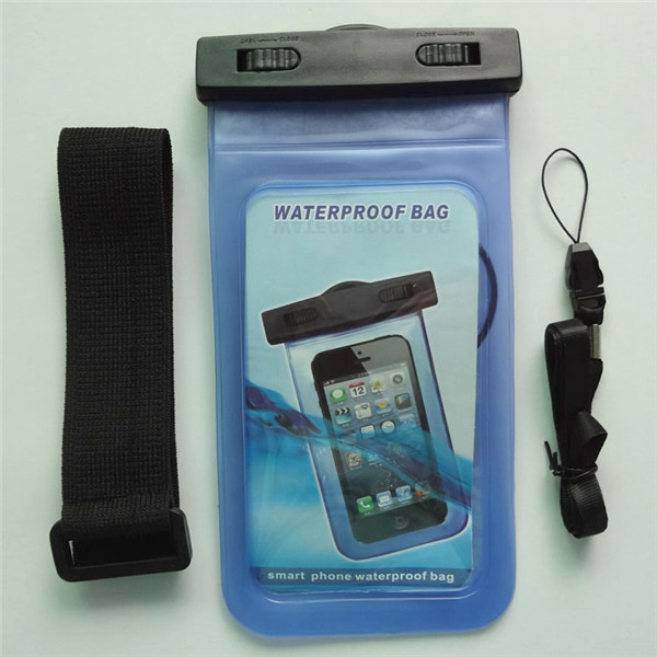 Factory price clear blue pvc promoting waterproof case for philips phone with headphone jack