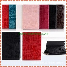 High Quality Slim Crocodile wallet Leather Case with card holder for iPad Mini 4