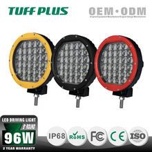 "96W 9"" round led driving light with Red /Black /Yellow for truck ,off-road, suv, car"