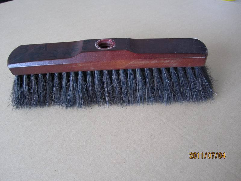wooden handle horse hair broom