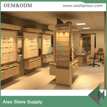 eyewear shop interior decoration, eyewear glass display- cabinet