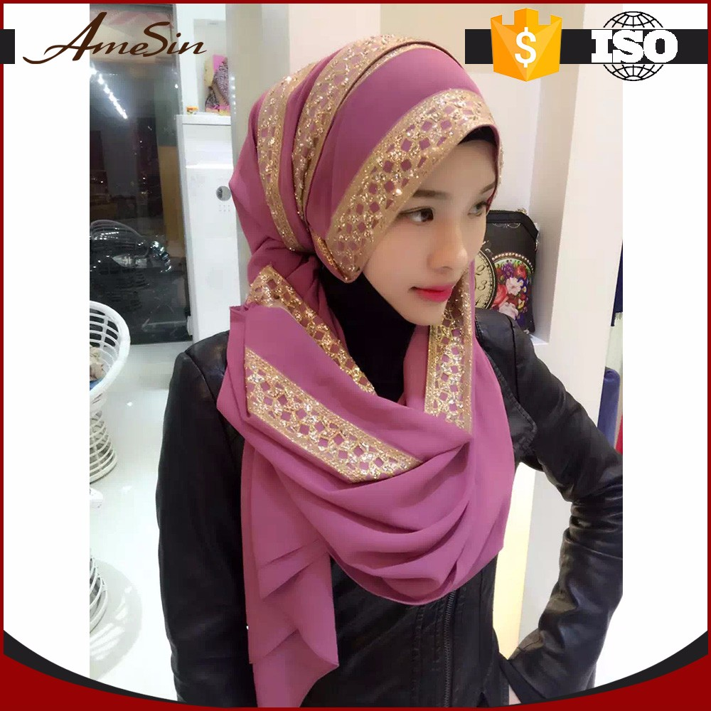 AMESIN china wholesale market agents dubai hijab muslim fashion scarf