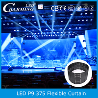 Video Display Function and Indoor Usage soft led curtain