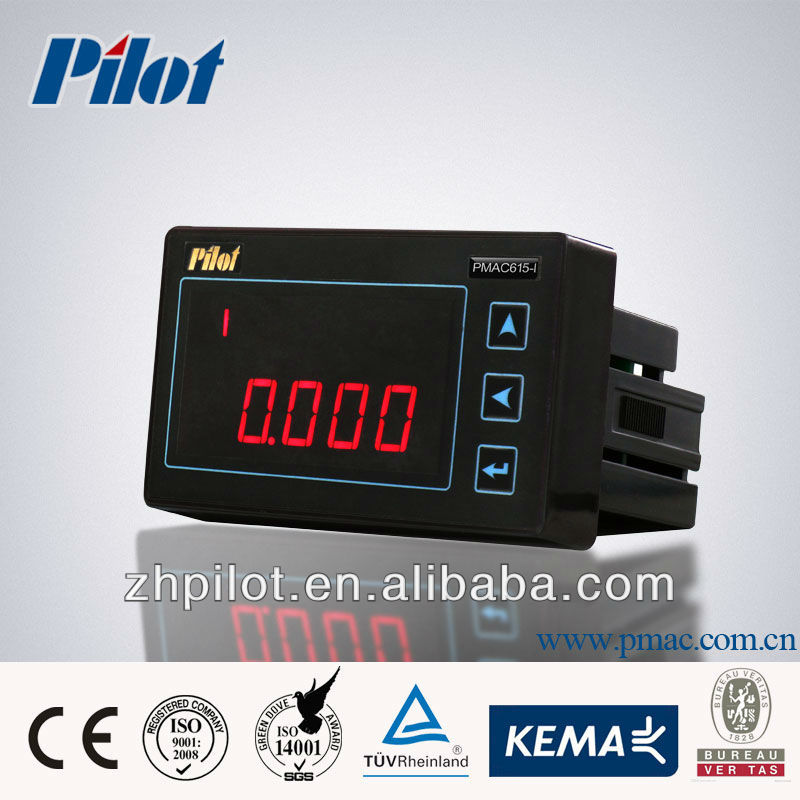 PMAC615 single phase LED MODBUS multifunction power meter, Analog output current meter, RS485 digital panel meter