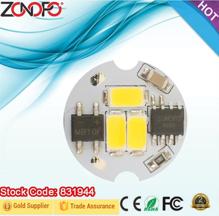 2w 6w 110v 220v input voltage driver and LED together dimmable bulb candle light cob ac led