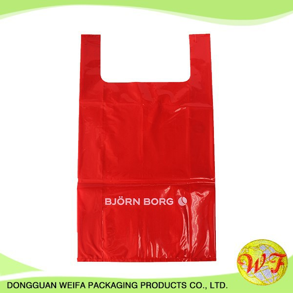 HDPE Recycle or Virgin Material Plastic T Shirt Vest Shopping Bag for Packing