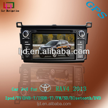 double din wince car dvd player for toyota RAV 4 car gps navigation systemwith Steering wheel control