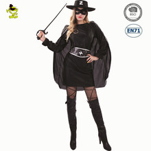 Carnival Party sexy women bandit zorro cosplay costume