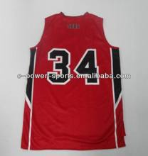 OEM service basketball kleidung jersey uniform design, reversible basketball singuletts shirts,