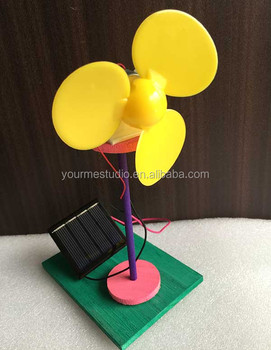 Children DIY 3 leaves Solar fan