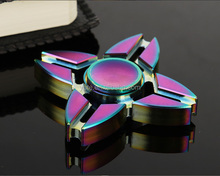 Best Quadangle Multi Colored Hand Spinner Fidget Focus for Anxiety Kids Adults