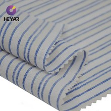 yarn dyed stripes plain weave linen cotton fabric