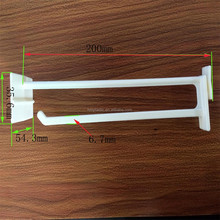 8 Inch plastic display stand hook supermarket small peg rack plastic hook