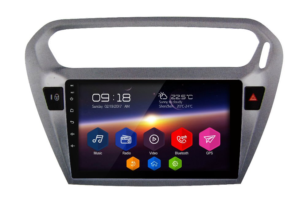 "Otojeta Big screen 9"" android 6.0.1 quad core car dvd player for PEUGEOT 2013 301 Gray radio BT wifi gps navi car stereo"