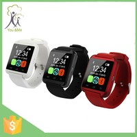 super black red white wrist sports U8 for ios and android cellphones smart bluetooth watch