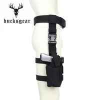 Customized adjustable size tear-resistant thigh drop leg pistol holster