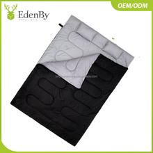 Custom Outdoor Double envelope sleeping bag with two pillows