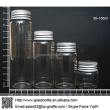 Test Tube Glass Bottle with Aluminum Screw Cap for Candy Packaging