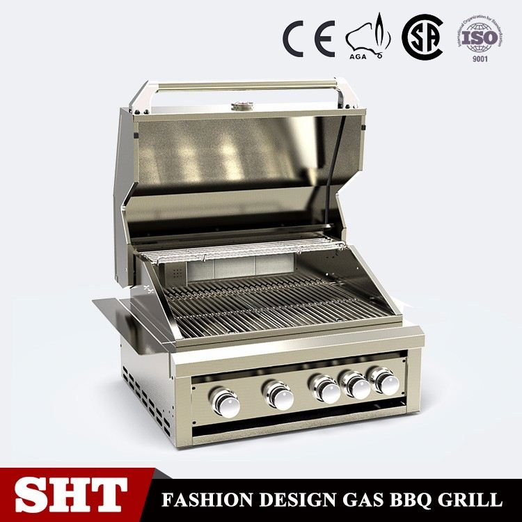 Stainless Steel 5 Burner BBQ Barbecue Gas Grills for Outdoor Kitchen Cooking Equipment