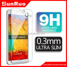 cell phone screen protection 0.26mm 9h clear tempered glass screen protector for galaxy Note 3