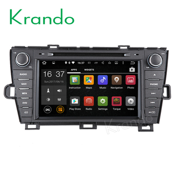 "Krando Android 7.1 8"" android car multimedia system audio player for Toyota-PRIUS 2009-2015 car navigation gps BT KD-TP809L"