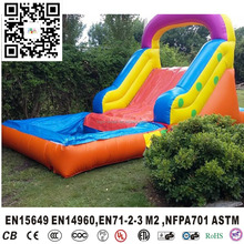 Inflatable colourful slide with mini pool for backyard, garden kids inflatable mini water slide with pool