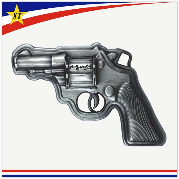 custom made similar products metal 3d toy revolver gun belt buckle
