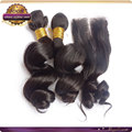 wholesale human hair loose wave hair bundleshuman hair weave 3 bundles match 1piece full lace human hair