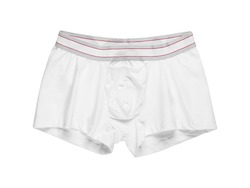 Plain white cotton boxer briefs men high cut briefs wholesale