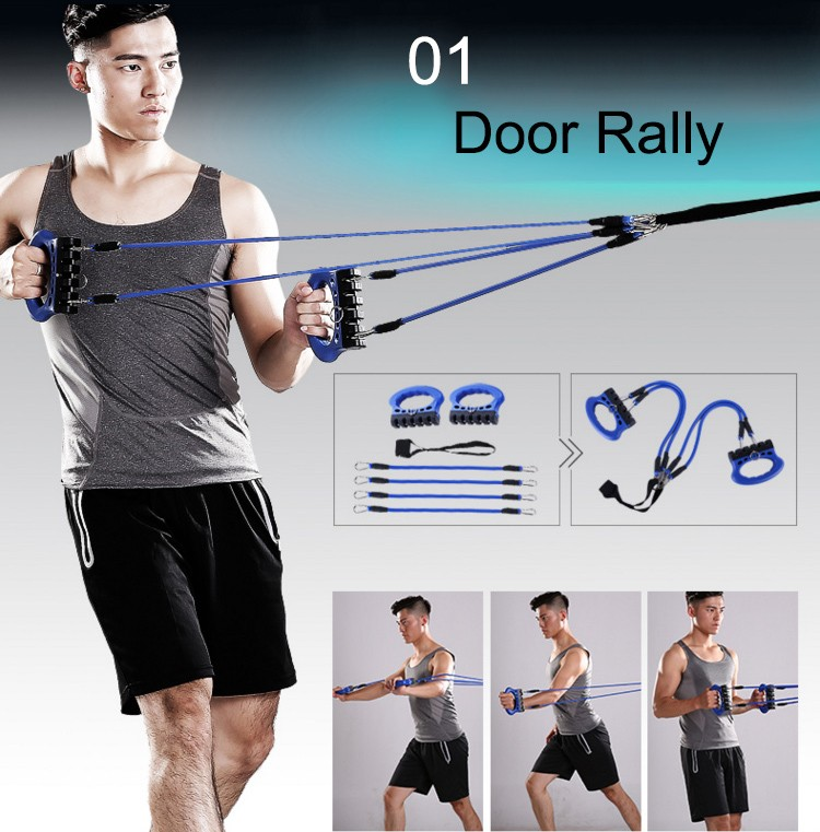 Newest Home Gym Arm Shoulder Exercise Pulley, Rally ,Resistance Bands Kit