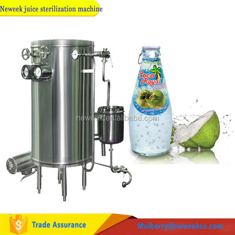 Neweek UHT coiled tube milk sterilizer coconut juice sterilization machine