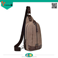 wholesale unisex leisure sport shoulder bag durable canvas sling chest pack bag