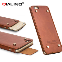 QIALINO 2016 Newest Design Leather Bumper Case For iPhone 6 and 6S