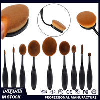 MAKEUP Private Label Your Own Brand Factory Wholesale Rose Gold Oval Multi-purpose Cosmetic Makeup Set For Make up