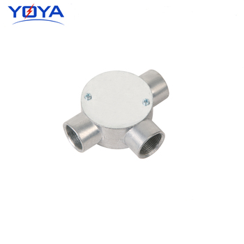 Tee round junction box outlet box