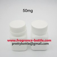 50ml capsule bottle, medical plastic bottle with tamper proof lid and aluminum foil gasket seal