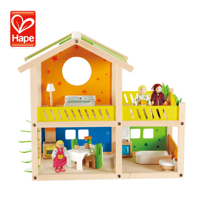 Hape pretend play toys baby girl safety wooden toy houses dolls