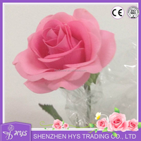 Shenzhen Multi Color Wholesale Factory directly home latex real touch artificial wedding decoration preserved single rose flower