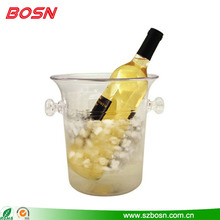 Custom cylinder acrylic lucite belvedere wine bottle ice bucket cooler wholesale