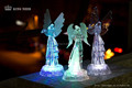 LED Acrylic christmas angel with instrument figurines
