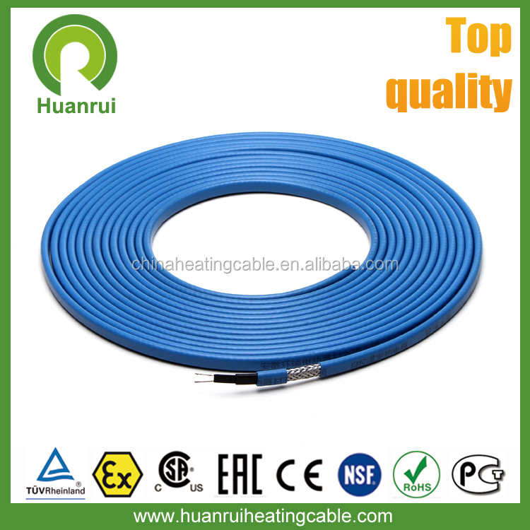UV Stabilized Radiant Twin Conductor Self Regulating Floor Warming Heating Cable