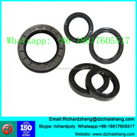Crankshaft viton TC oil sealing double lip oil seal metal frame with PTFE seal strip